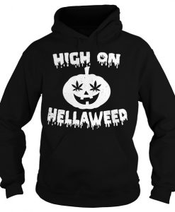 High on pumpkin hella weed Hoodie