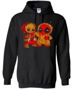Baby Groot And Baby Deadpool Hoodie