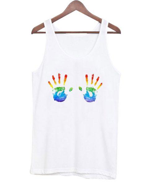 Rainbow Hand Tanktop
