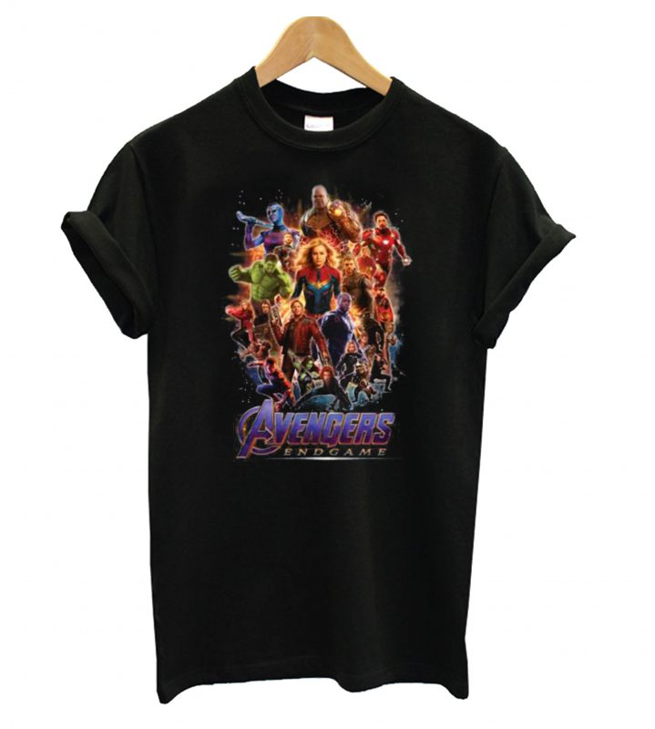 Marvel Avengers Endgame Black T Shirt
