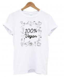 100% Pure Vegan - World Vegetarian Day T shirt