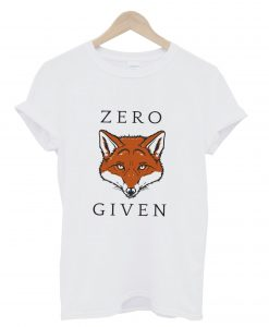 Zero Given Red Fox T Shirt