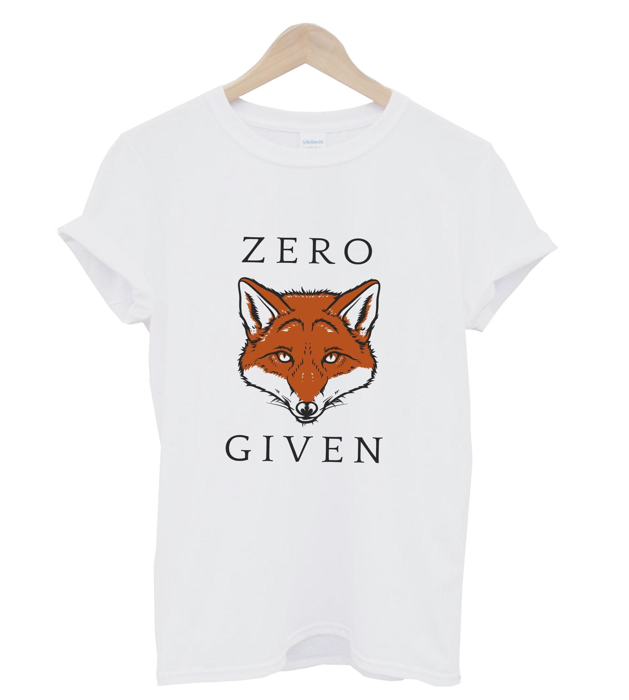Zero Given Red Fox T Shirt