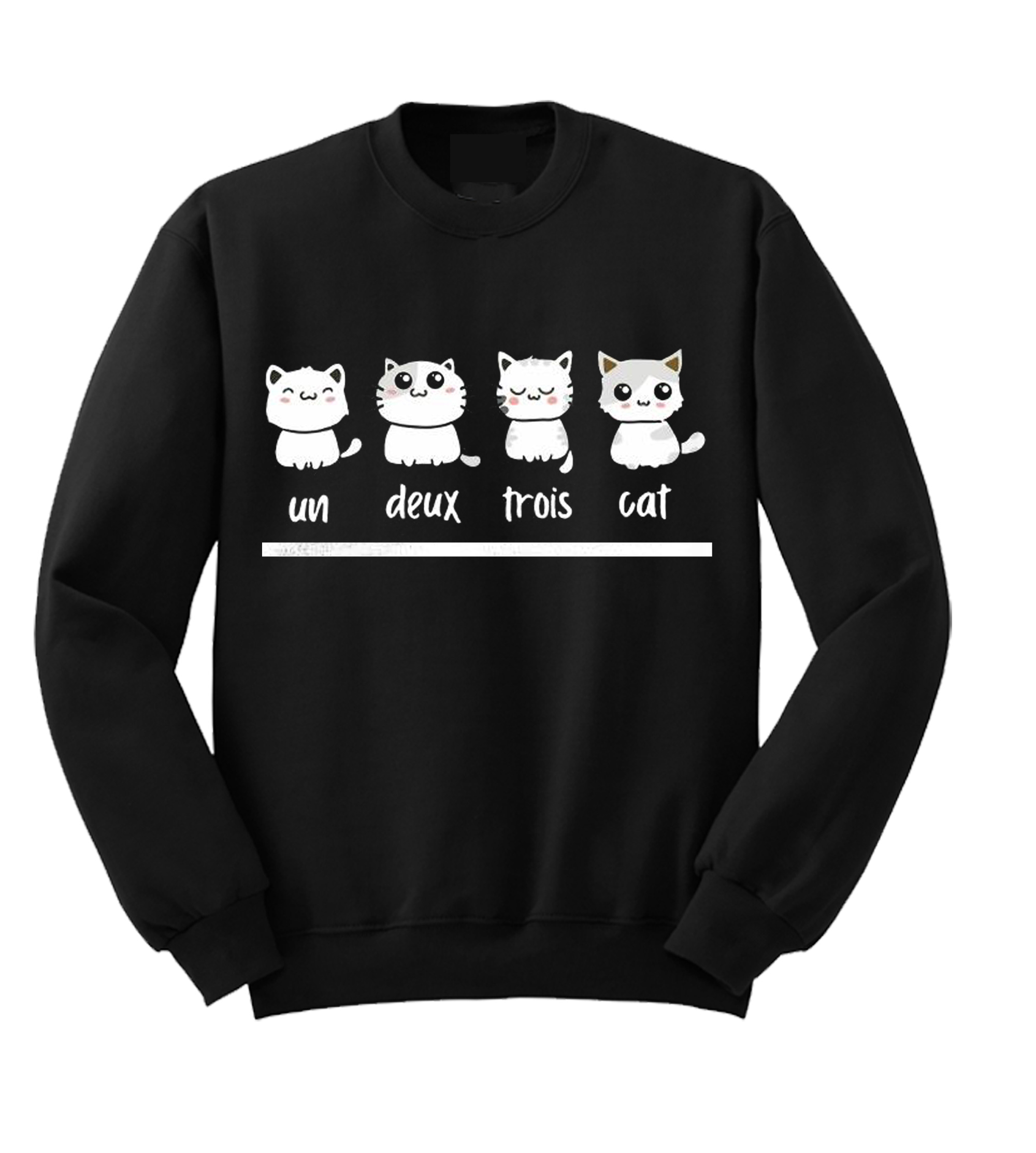 Un Deux Trois Cat Sweatshirt